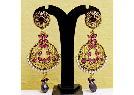 1Brass Alloy Earrings EJBA12