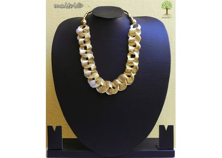 Contemporary Golden Entangled Necklace EAJ11