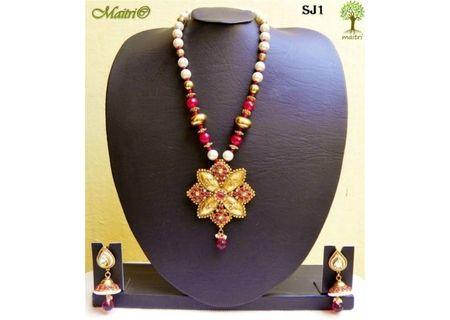 Stone Jewelry  - Stone Necklace Set - SJ1
