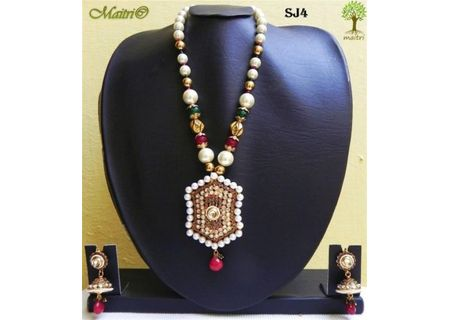 Stone Jewelry  - Stone Necklace Set - SJ4