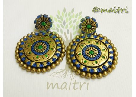 Terracotta Earring - Stud Dangler-Exclusive TEC403a
