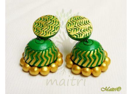 0 Terracotta Earring - Terracotta Jhumka TED412b