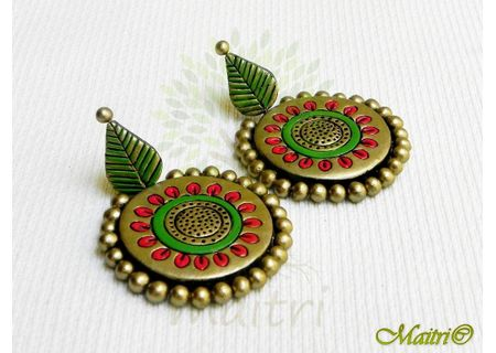 Terracotta Earring - Stud Dangler-Exclusive TEC405