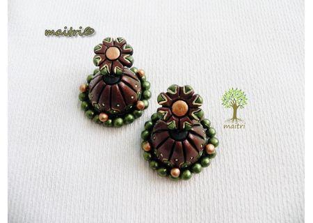 00Terracotta Jewelry - Terracotta Earring TEZ25