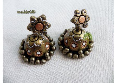 00Terracotta Jewelry - Terracotta Earring TEZ26