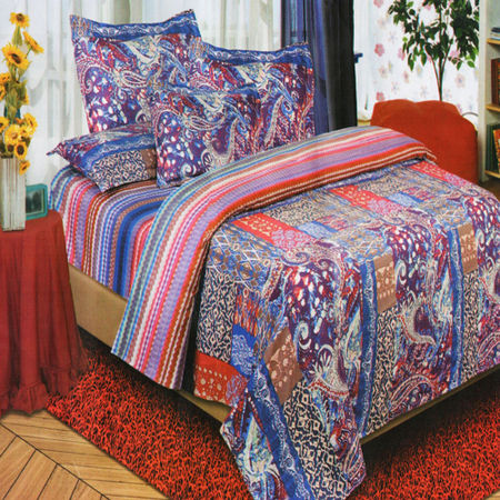 Multi Print Bedsheet W/Pillow Cover-Pack of 3 Pcs by Dekor World