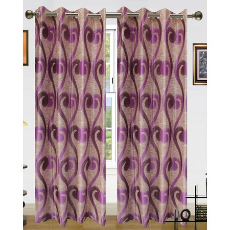 Sprial World Curtain(Pack of 2) by Dekor World  (More Colour)