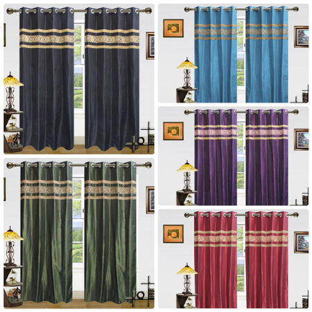 Ethnic Curtain Collection- Set of 2 Pcsby Dekor World (More Colour)