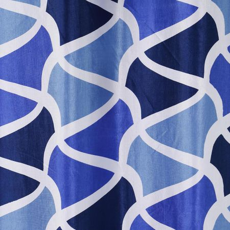 Abstract Blue Printed Fabric by Dekor World  (MORE COLOR)