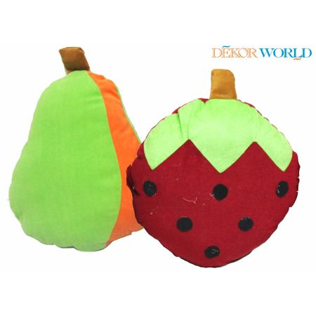 Strawberry Pear Cushions Combo. Set of 2 Pcs by Fun Club