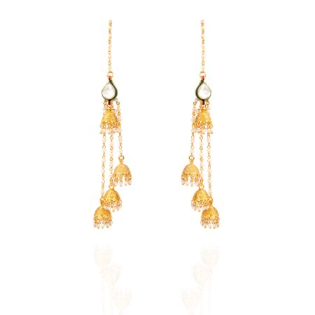 Gold Plated Kashmiri Earrings