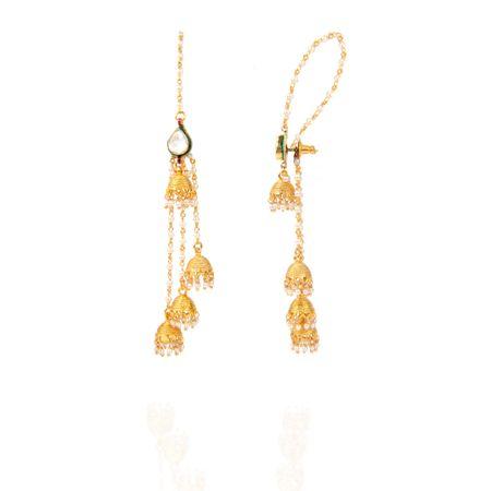 Gold Plated Kashmiri Earrings