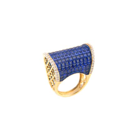 Gold Plated Blue Regal Ring
