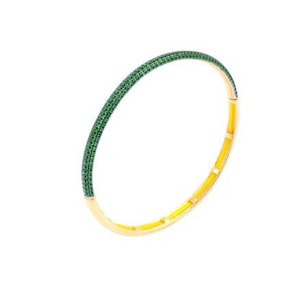 Gold Plated Delicate Green Bracelet