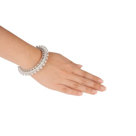 Rhodium Plated Solitaire Bracelet