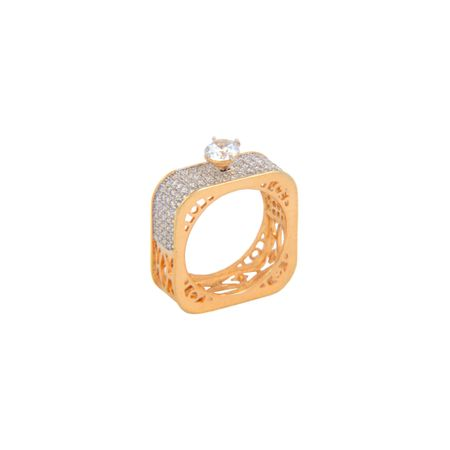 Gold Plated Square Finger Ring
