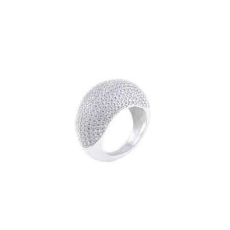 Rhodium Plated Eternal Zircon Ring