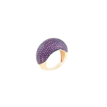 Gold Plated Ruby Eternal Zircon Ring