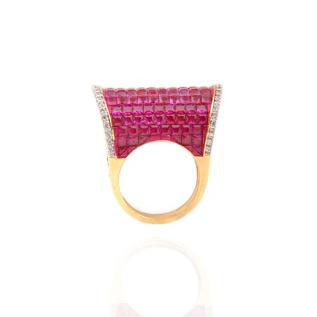 Gold Plated Red Regal Ring