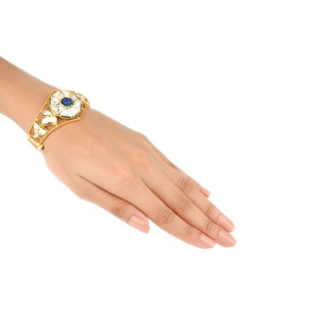 Gold Plated Blue Vilandi Kada