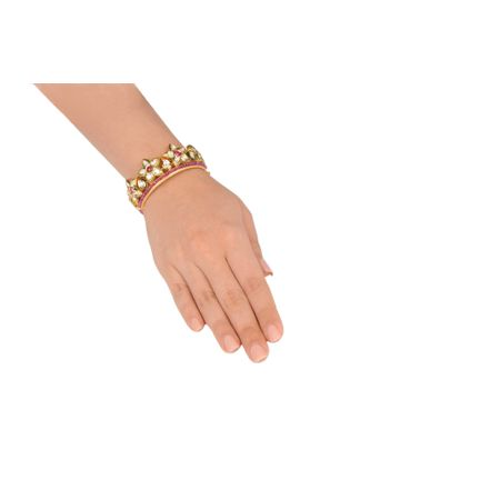 Gold Plated Crown Bracelet