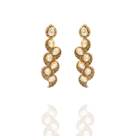 Gold Plated Vilandi Drop Earrings