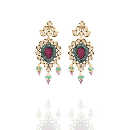 Gold Plated Diana Earrings