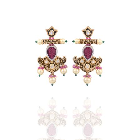 Gold Plated Barbed Earrings