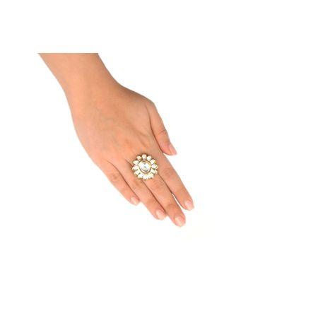 Gold Plated Flower Finger Ring