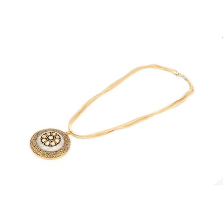 Gold Plated Vilandi And Zircon Fusion Necklace Set