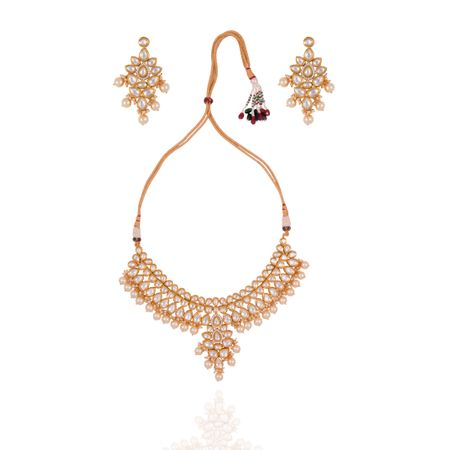 Gold Plated Chandelier Necklace