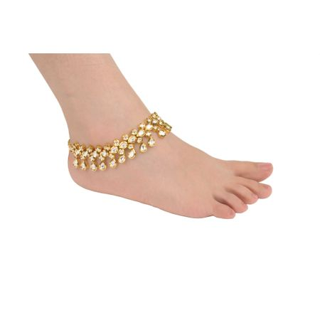 Gold Plated Bridal Anklet