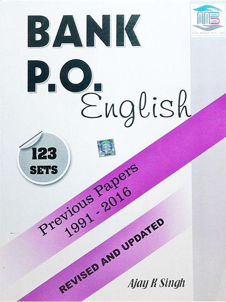 Bank Po English 123 Set Previous Papers 1991-2016 By Ajay Kumar Singh-(Anglo-Hindi)