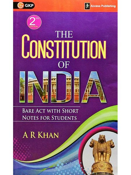 The Constitution Of India By A R Khan-(English)
