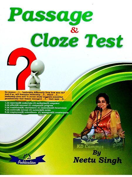 Passage & Cloze Test By Neetu Singh-(English)