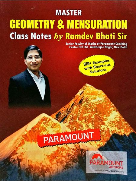 Master Geometry & Mensuration Class Note By Ramdev Bhati Sir-(English)