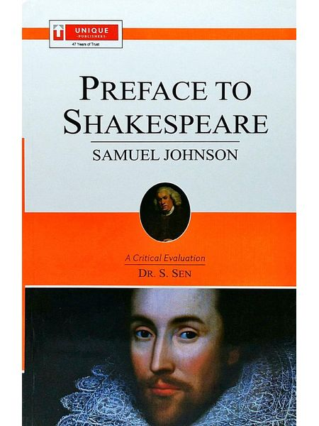 Dr Johnson Preface To Shakespeare By Dr S Sen-(English)