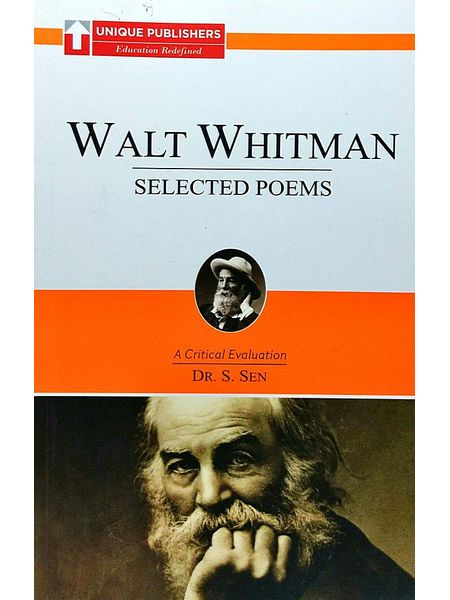 Walt Whitman - Selected Poems By Dr S Sen-(English)