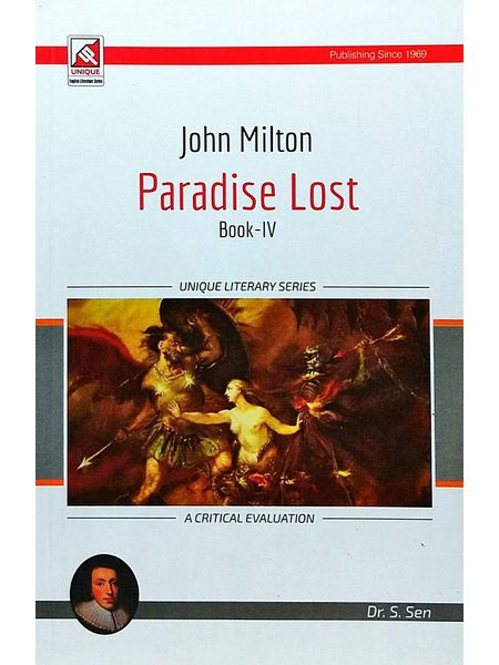 John Milton Paradise Lost Book 4 By Dr S Sen-(English)