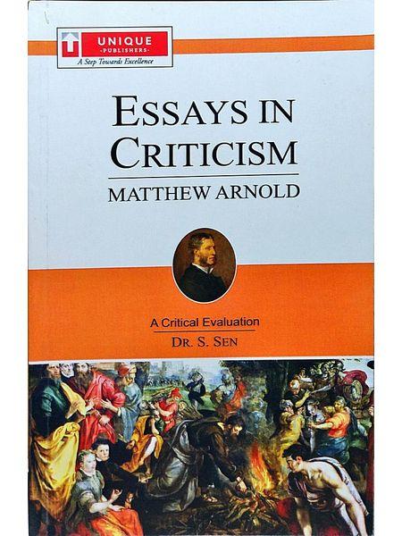 Matthew Arnold Essays In Criticism By Dr S Sen-(English)