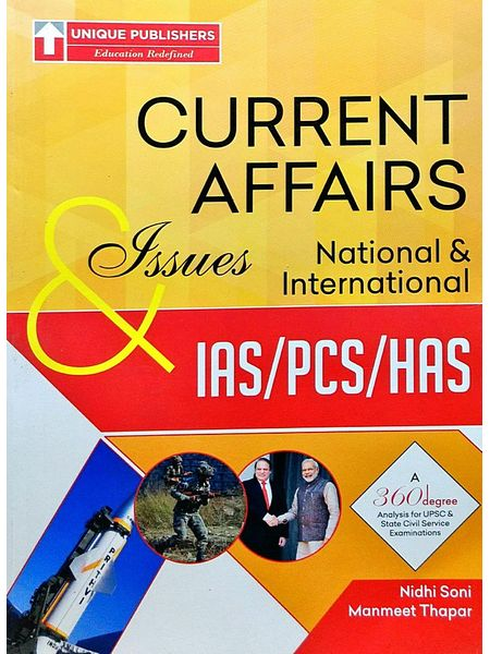 Current Afffairs Issues National And International By Nidhi Soni, Manmeet Thapar-(English)