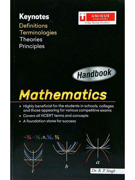 Handbook Mathematics By Dr R P Singh-(English)