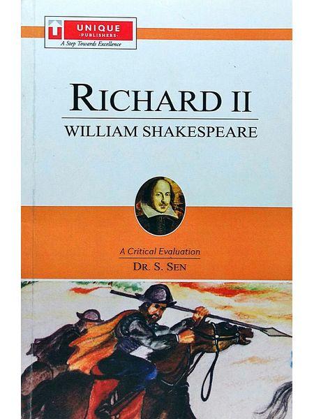 Richard 2 William Shakespeare By Dr S Sen-(English)