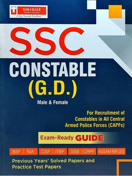 Ssc Constable By Unique Research Academy-(English)