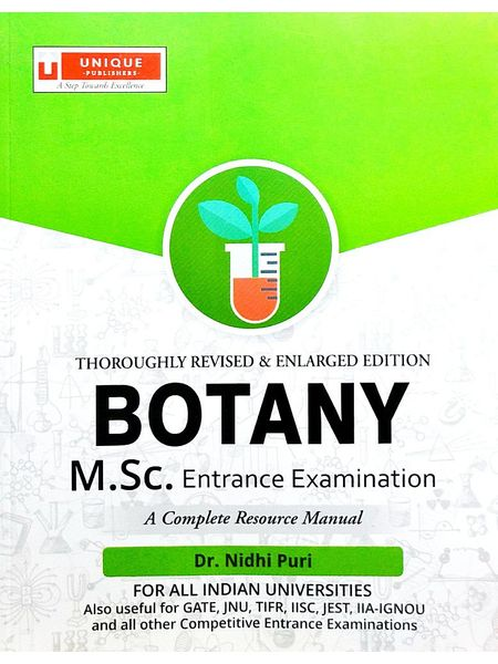 Botany M.Sc. Entrance Examination By Dr Nidhi Puri-(English)