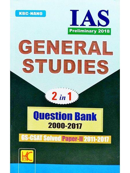 Kbc Nano Ias Preliminary General Studies Question Bank 2000-2017 By Shyam Salona-(English)