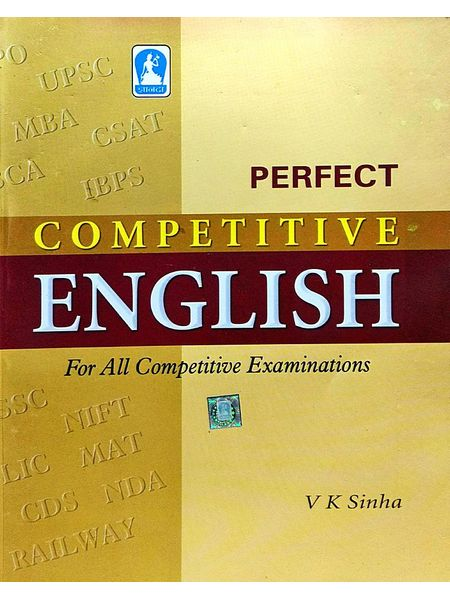 Perfect Competitive English For All Competitive Examinations By V K Sinha-(Hindi)
