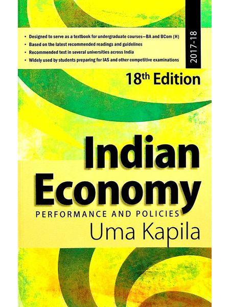 Indian Economy Performance And Policies By Uma Kapila-(English)