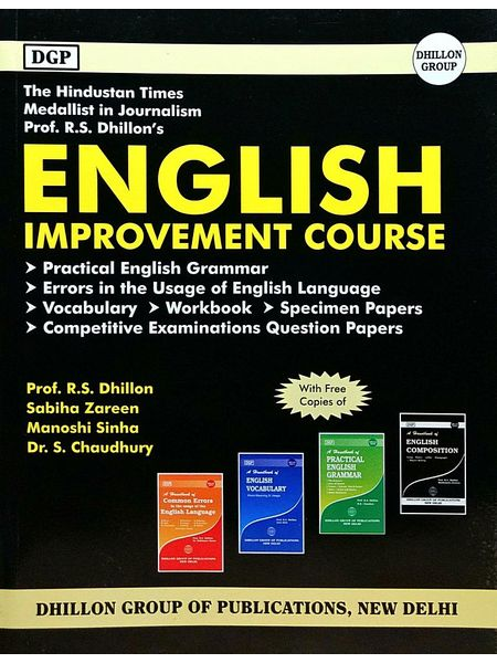 English Improvement Course By Prof R S Dhillon, Sabiha Zareen, Manoshi Sinha, Dr S Chaudhury-(English)