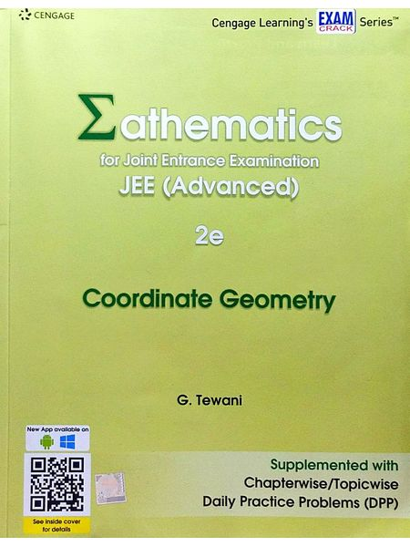 Mathematics For Joint Entrance Examination Jee Advanced Coordinate Geometry By G Tewani-(English)